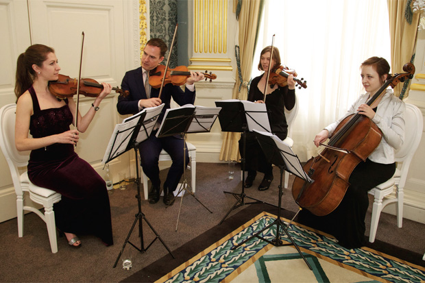Our Wedding String Quartet in Claridge's