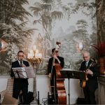 jazz swing band playing in a wedding in a Club in Mayfair, London