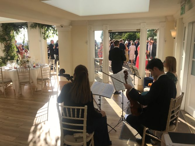 Wedding Music in Pembroke Lodge, Richmond.